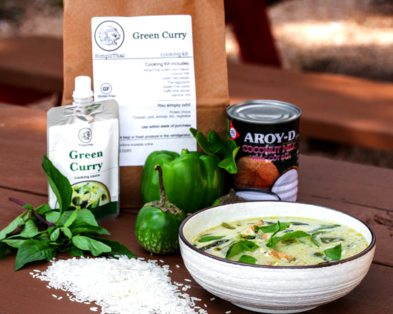 VEGAN Green Curry Cooking Kits