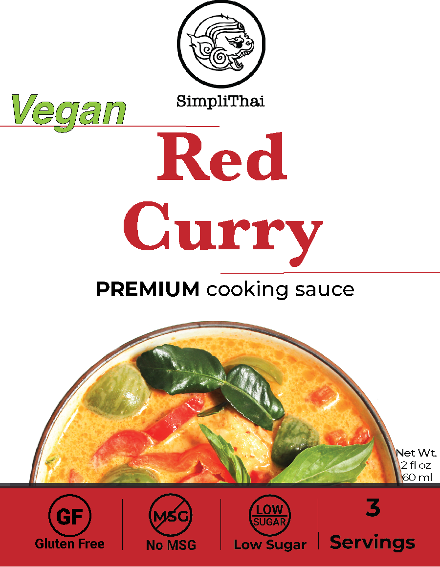 VEGAN Red Curry cooking sauce