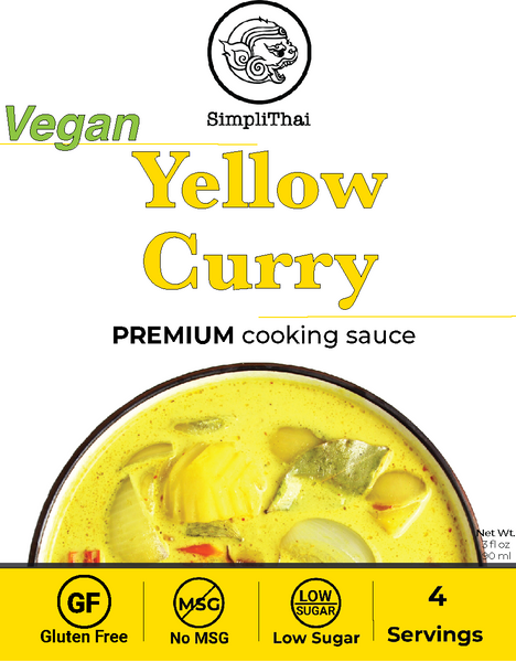 VEGAN Yellow Curry cooking sauce