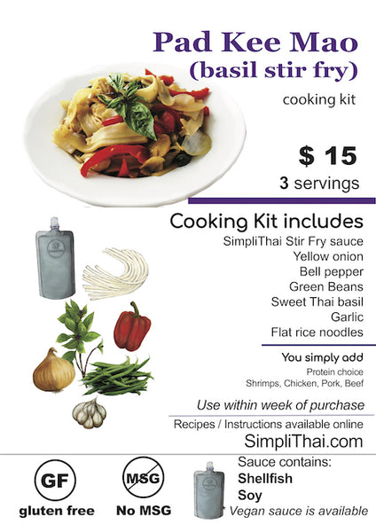 Pad Kee Mao cooking kit