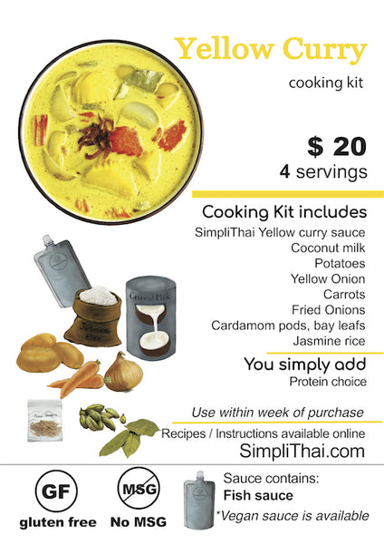 VEGAN Yellow Curry cooking kit