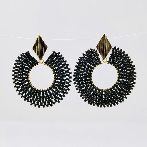 Rombo y Luna Earrings