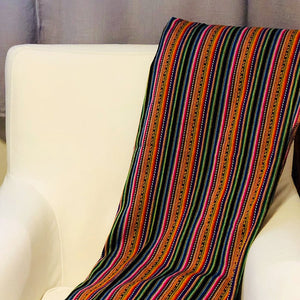 Peruvian Manta Throw Blanket (One of a Kind Limited Edition)