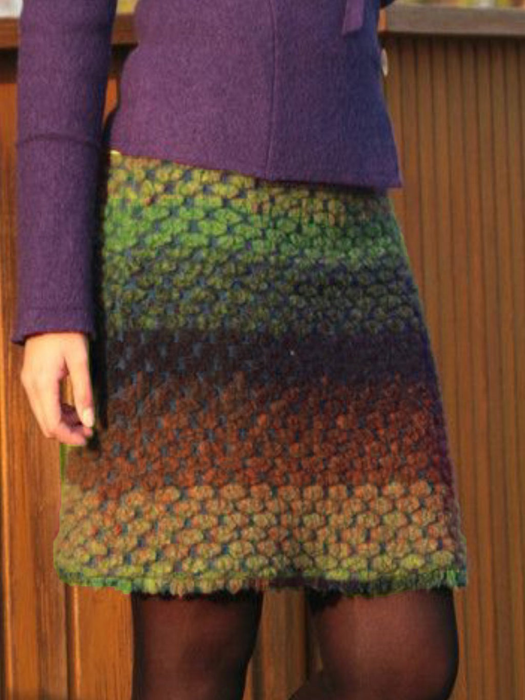 Vintage Color-Block Skirts