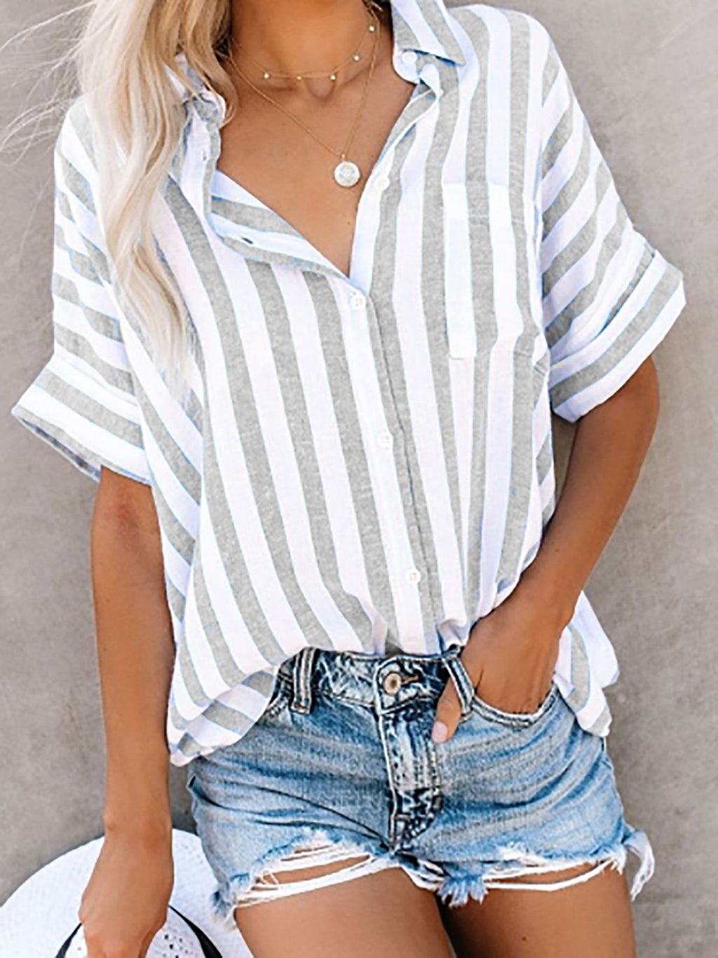 Buttoned Down Work Daily Striped Shirt