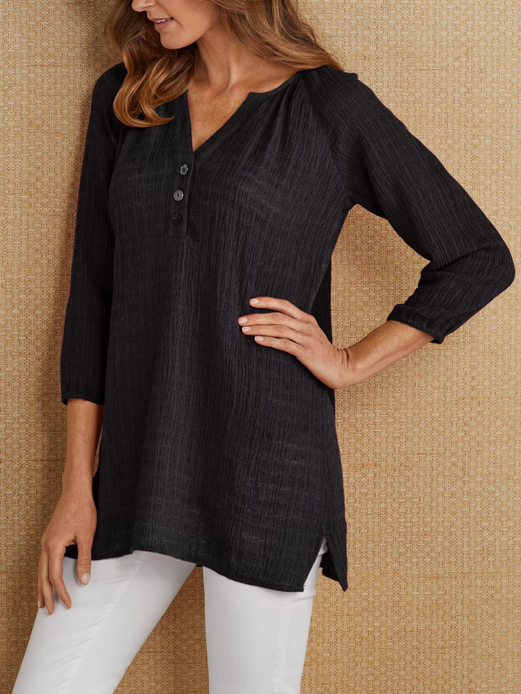 3/4 Sleeve Casual Blouse