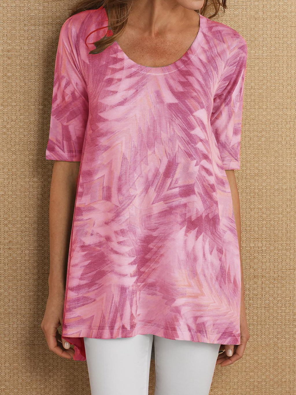 Abstract Printed Half Sleeve Shirt