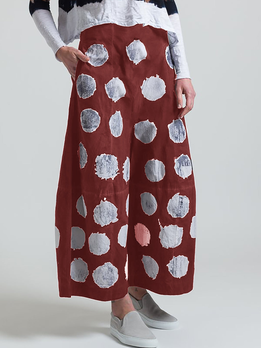 Summer Pockets Polka Dots Casual Capri Pants