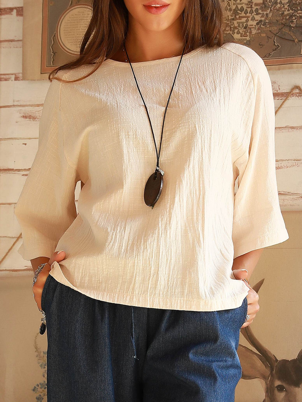 Apricot Holiday Cotton Shirts & Tops