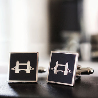 James Derby Black Cufflinks