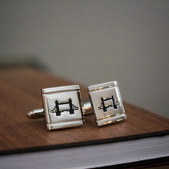 James Derby Silver Cufflinks