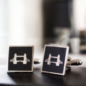 Black Tower Bridge Cufflinks