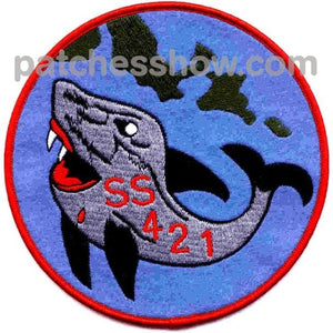 Ss-421 Uss Trutta Patch - Version C Military Tactical Patches Embroidered Sew On Or Iron On Velcro