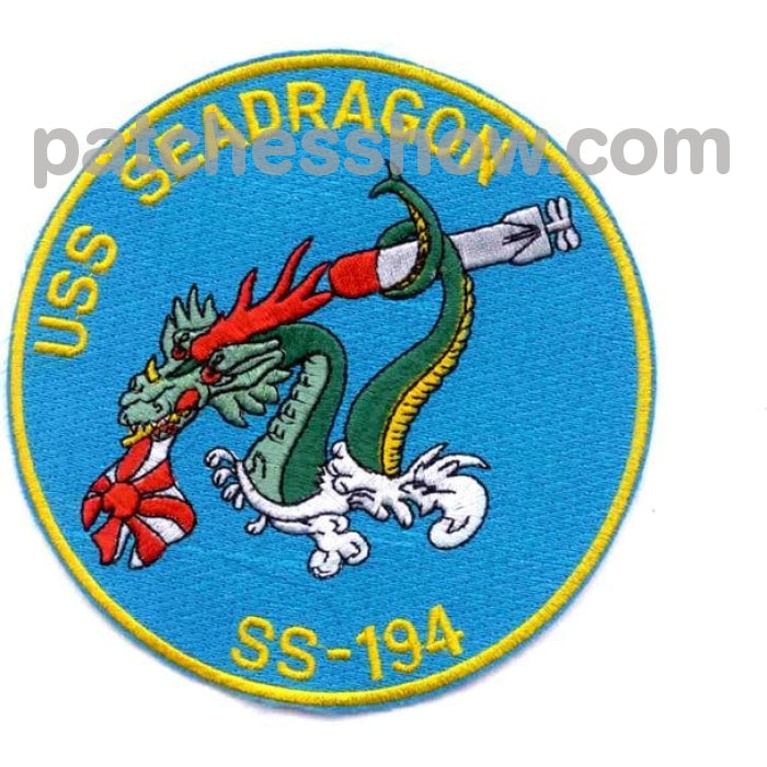 Ss-194 Uss Seadragon Patch Military Tactical Patches Embroidered Sew On Or Iron On Velcro Usa
