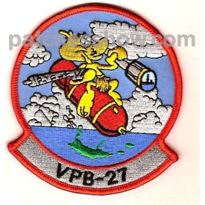 Vpb-27 Aviation Patrol Bomber Squadron Patch Military Tactical Patches Embroidered Sew On Or Iron On