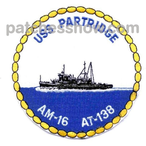 Uss Partridge At-138 Patches Military Tactical Patches Embroidered Sew On Or Iron On Velcro Usa