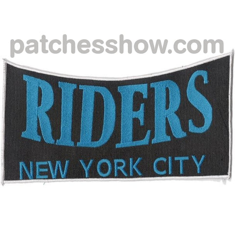 Riders New York City Back Patches Military Tactical Patches Embroidered Sew On Or Iron On Velcro Usa
