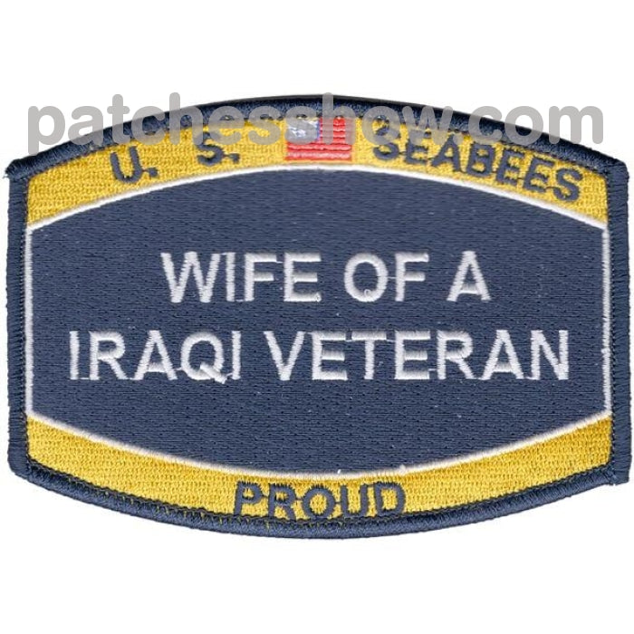 Seabee Wife Of A Iraqi Veteran Patches Military Tactical Patches Embroidered Sew On Or Iron On