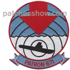 Vp-671 Patrol Squadron Patch Military Tactical Patches Embroidered Sew On Or Iron On Velcro Usa