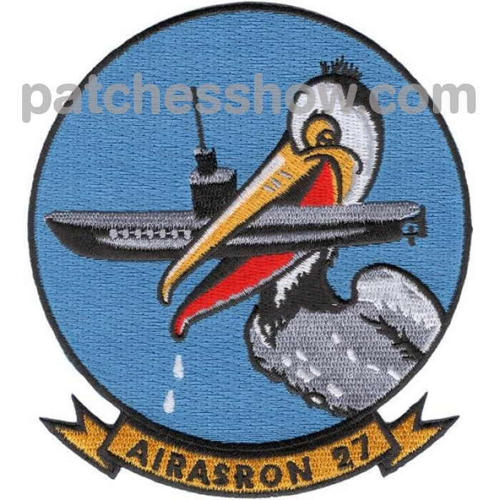 Vs-27 Anti-Submarine Squadron Patch Military Tactical Patches Embroidered Sew On Or Iron On Velcro