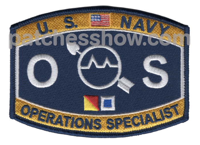 Operations Specialist Rating Hat Patch Military Tactical Patches Embroidered Sew On Or Iron On