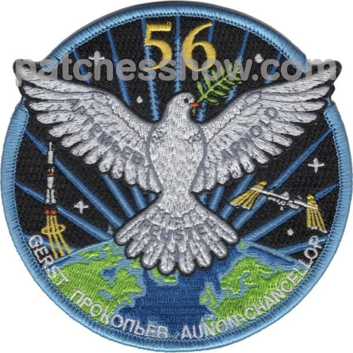 Sp-617 Iss Expedition 56 Crew Patches Military Tactical Patches Embroidered Sew On Or Iron On Velcro