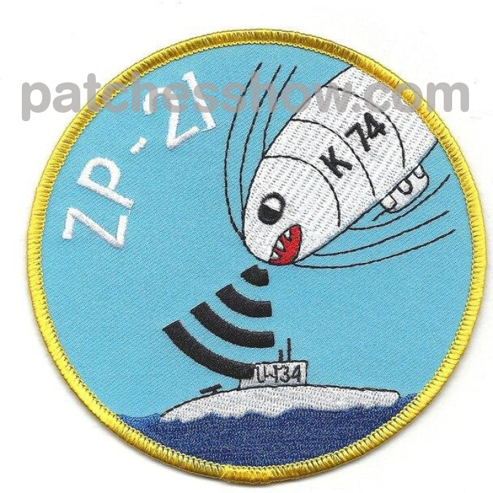 Zp-21 Blimp Squadron Wwii Patch Military Tactical Patches Embroidered Sew On Or Iron On Velcro Usa