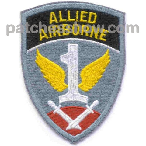 Allied Airborne Patch Military Tactical Patches Embroidered Sew On Or Iron On Velcro Usa Wholesale