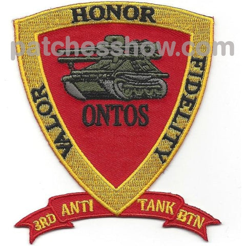 3Rd Anti Tank Battalion Valor Honor Fidelity Patches Military Tactical Patches Embroidered Sew On Or