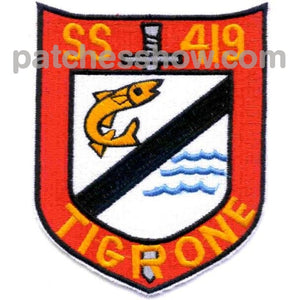 Ss-419 Uss Tigrone Patch - Version B Military Tactical Patches Embroidered Sew On Or Iron On Velcro