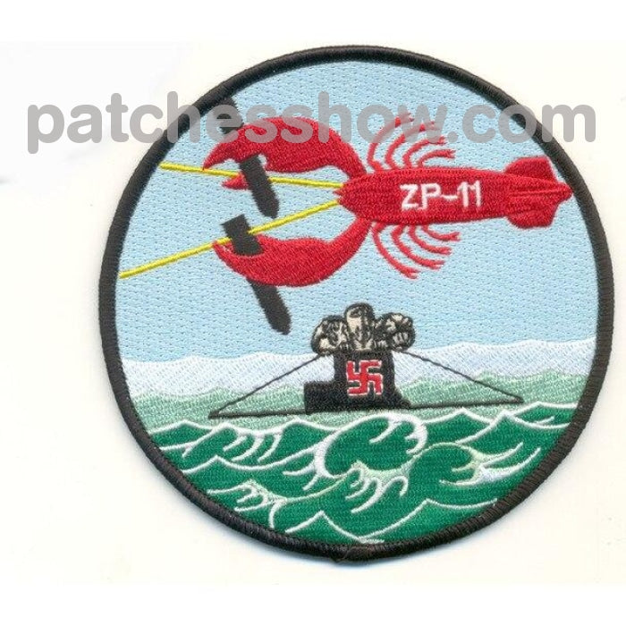 Zp-11 Aviation Airship Patrol Squadron Eleven Patch Military Tactical Patches Embroidered Sew On Or
