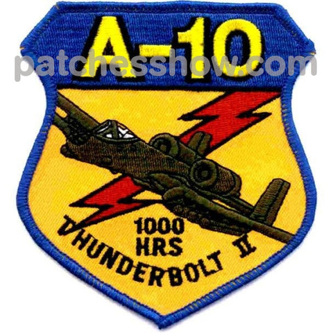A-10 Thunderbolt Ii Military Tactical Patches Embroidered Sew On Or Iron On Velcro Usa Wholesale000