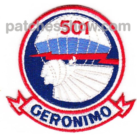 501St Airborne Infantry Regiment Patch Geronimo - Version D1 Small Military Tactical Patches