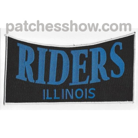 Riders Illinois Back Patches Military Tactical Patches Embroidered Sew On Or Iron On Velcro Usa