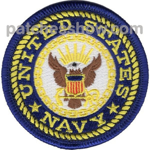 Small Navy Crest Patch Military Tactical Patches Embroidered Sew On Or Iron On Velcro Usa Wholesale