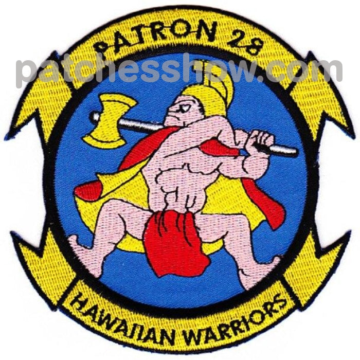 Vp-28 Aviation Patrol Squadron Hawaiian Warriors A Version Patch Military Tactical Patches