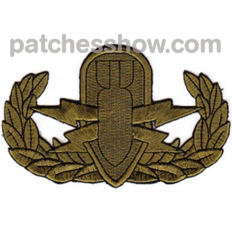 Eod Explosive Ordnance Disposal Basic Badge Subdued Patches Military Tactical Patches Embroidered