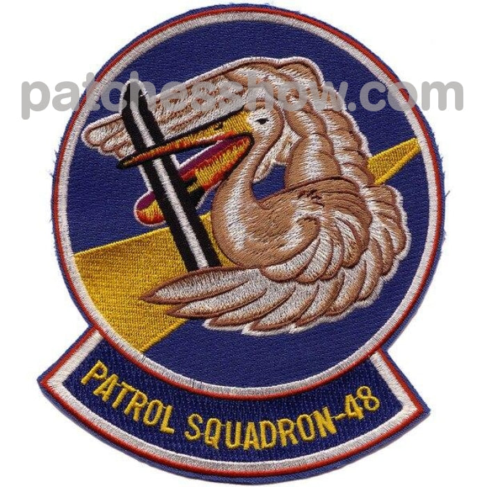 Vp-48 Patrol Squadron Second Version Patch Military Tactical Patches Embroidered Sew On Or Iron On