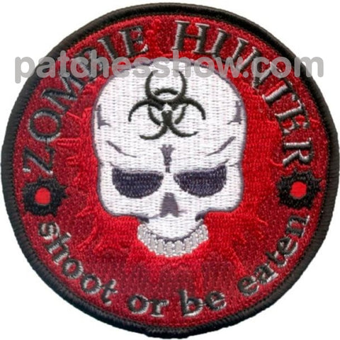 Zombie Hunter Patches Military Tactical Patches Embroidered Sew On Or Iron On Velcro Usa Wholesale