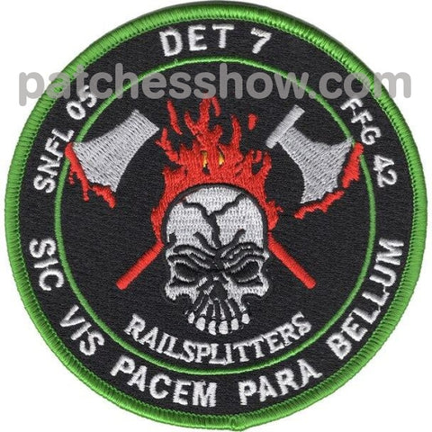 Hsl-46 Det 7 Patches Railsplitters Military Tactical Patches Embroidered Sew On Or Iron On Velcro