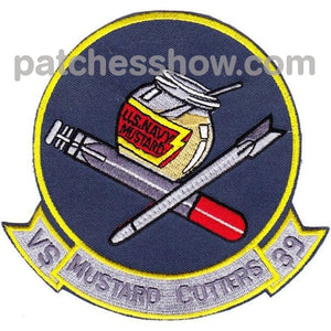 Vs-39 Sea Control Squadron Mustard Patch Military Tactical Patches Embroidered Sew On Or Iron On