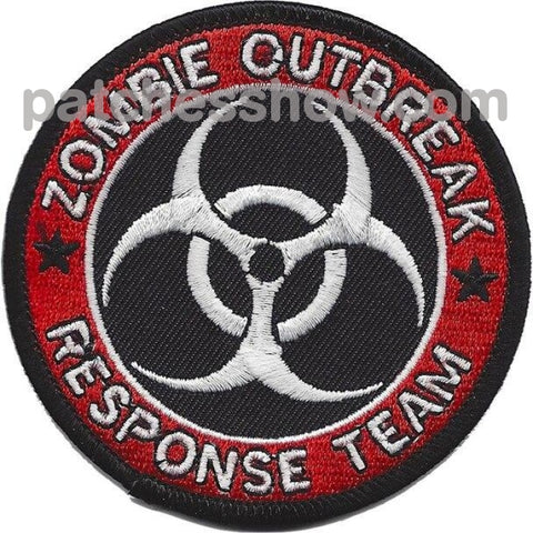 Zombie Outbreak Response Team Patches Military Tactical Patches Embroidered Sew On Or Iron On Velcro