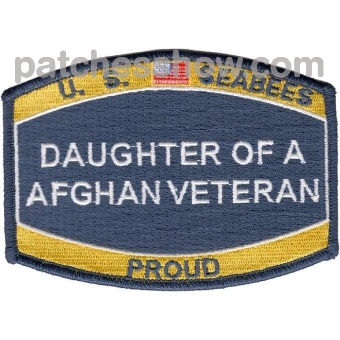 Seabees Daughter Of A Afghanistan Veteran Patches Military Tactical Patches Embroidered Sew On Or