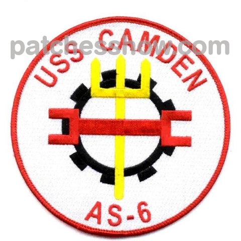 Uss Camden As-6 Patches Military Tactical Patches Embroidered Sew On Or Iron On Velcro Usa Wholesale