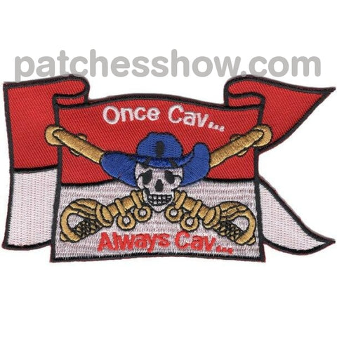 Cavalry Guide On Once Cav...always Cav Flag Patches Military Tactical Patches Embroidered Sew Or