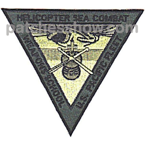 Helo Sea Combat Weapons School Patches Military Tactical Patches Embroidered Sew On Or Iron On