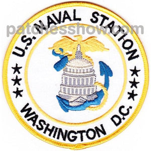 Washington Dc U.s. Naval Station Patch Military Tactical Patches Embroidered Sew On Or Iron On