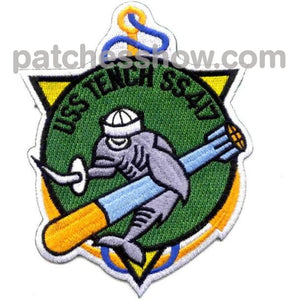 Ss-417 Uss Tench Patch - Version A Military Tactical Patches Embroidered Sew On Or Iron On Velcro