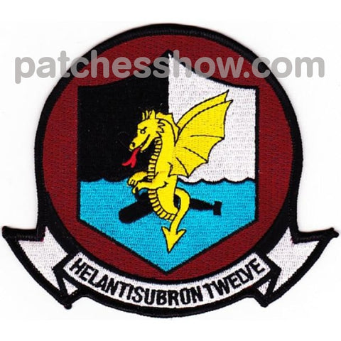Hs-12 Anti-Submarine Warfare Aviation Squadron Patches Military Tactical Patches Embroidered Sew On