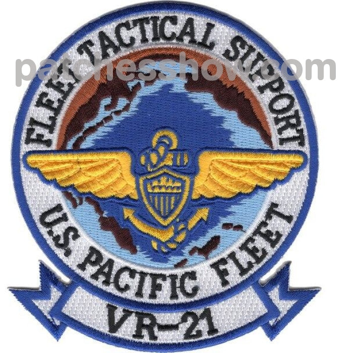 Vr-21 Fleet Tactical Support Air Transport Squadron Patch - Pacific Military Patches Embroidered Sew